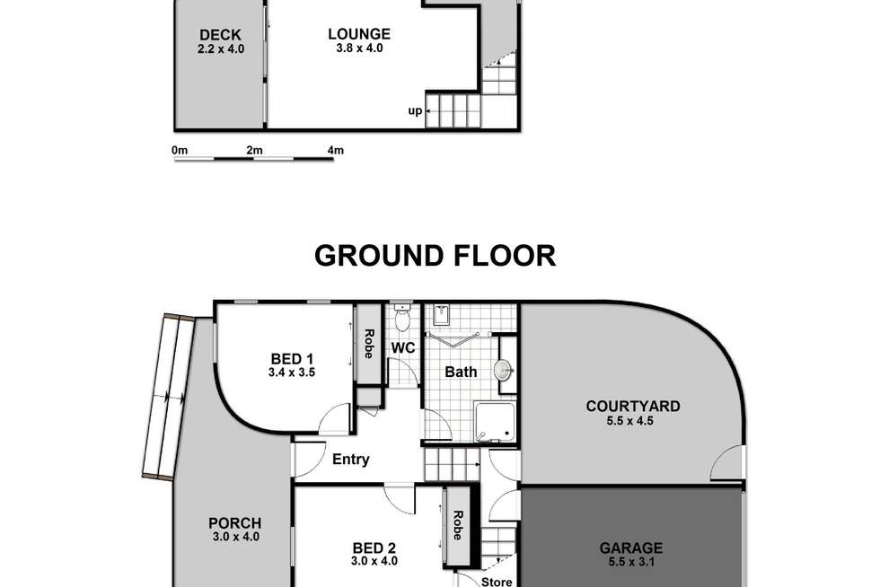 Floorplan of Homely townhouse listing, 1/223 Elizabeth Drive, Vincentia NSW 2540