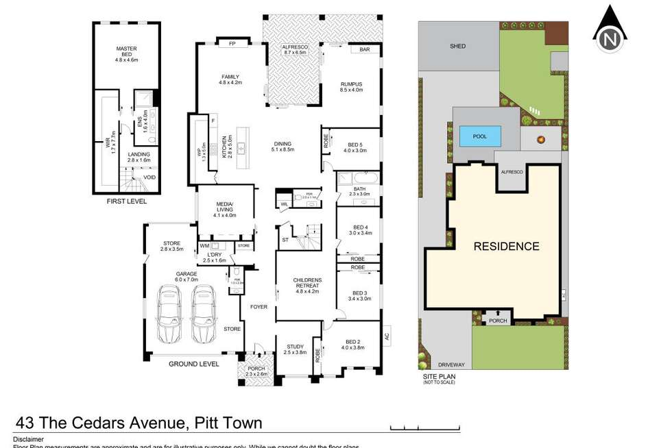 Floorplan of Homely house listing, 43 The Cedars Avenue, Pitt Town NSW 2756