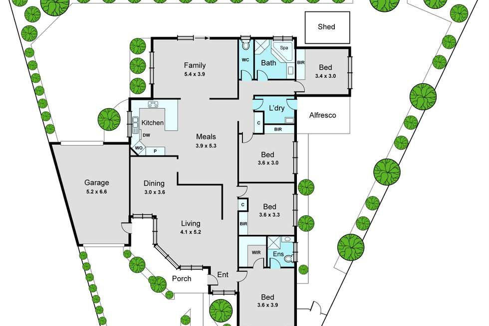 Floorplan of Homely house listing, 15 McCormick Court, Oakleigh South VIC 3167