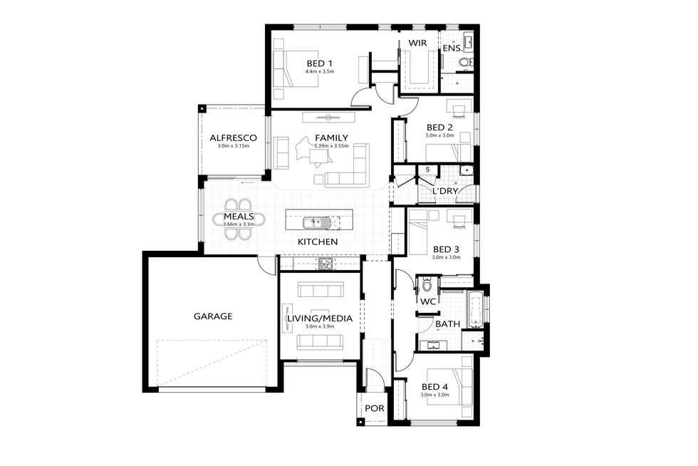 Floorplan of Homely house listing, Lot 146 Hone Creek Drive, Mudgee NSW 2850