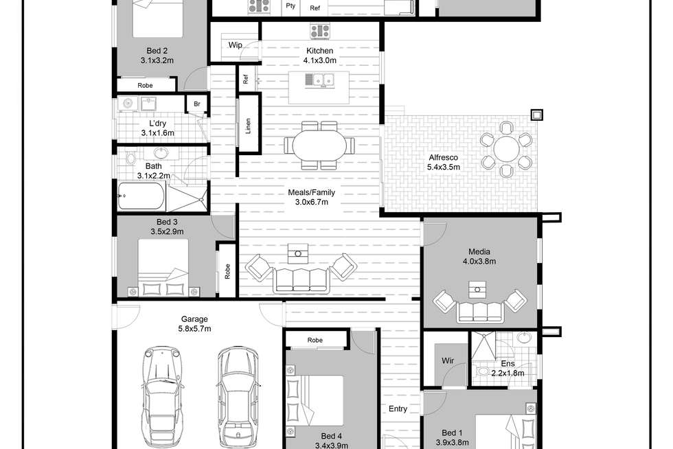 Floorplan of Homely house listing, 35 Bayswood Avenue, Vincentia NSW 2540