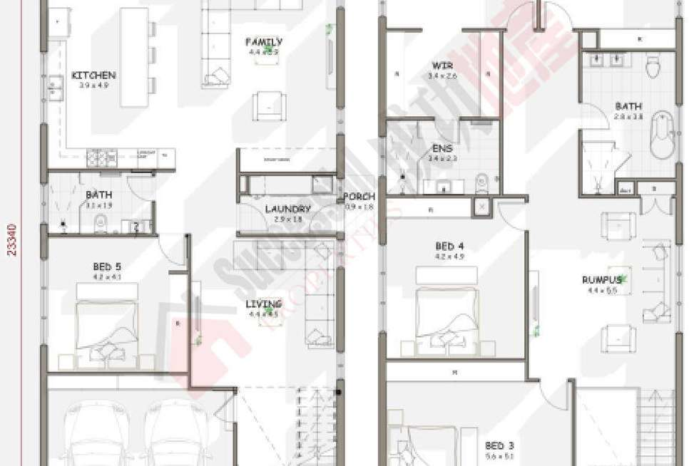 Floorplan of Homely house listing, LOT 46 Perfection Avenue, Stanhope Gardens NSW 2768