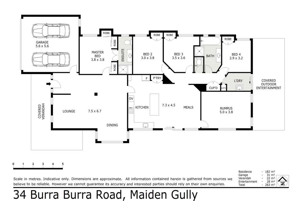 Floorplan of Homely house listing, 34 Burra Burra Road, Maiden Gully VIC 3551
