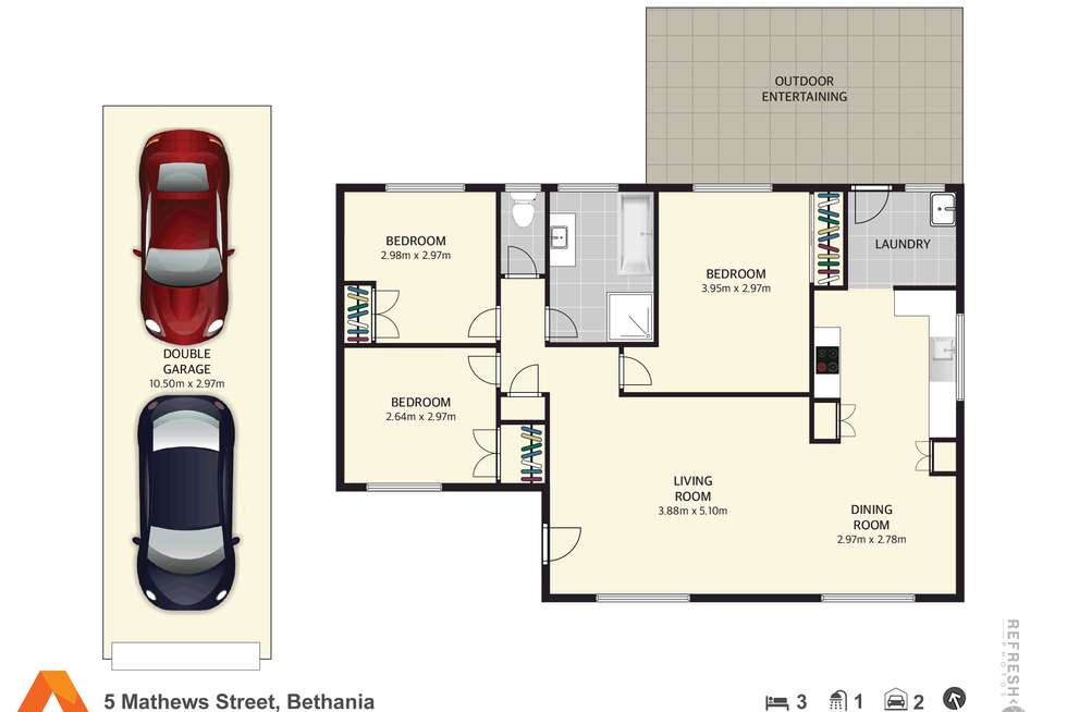 Floorplan of Homely house listing, 5 Mathews Street, Bethania QLD 4205