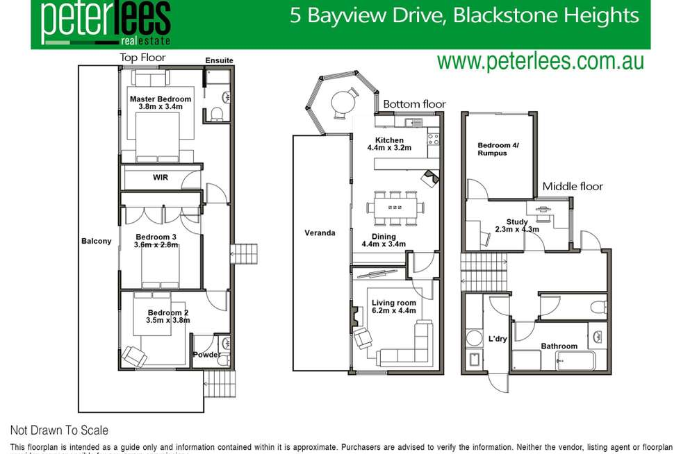 Floorplan of Homely house listing, 5 Bayview Drive, Blackstone Heights TAS 7250