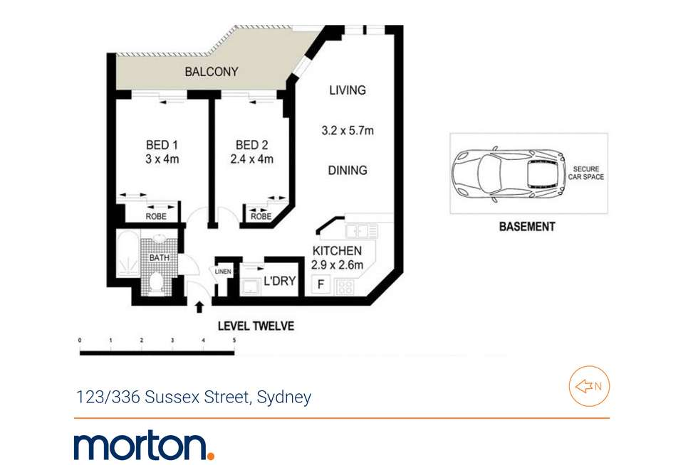Floorplan of Homely apartment listing, 123/336 Sussex Street, Sydney NSW 2000