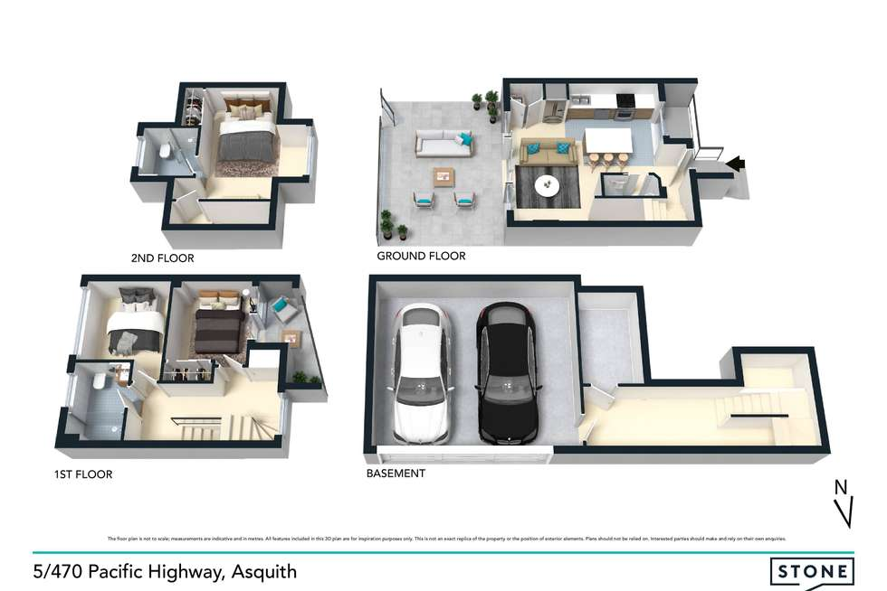 Floorplan of Homely townhouse listing, 5/470-472 Pacific Highway, Asquith NSW 2077