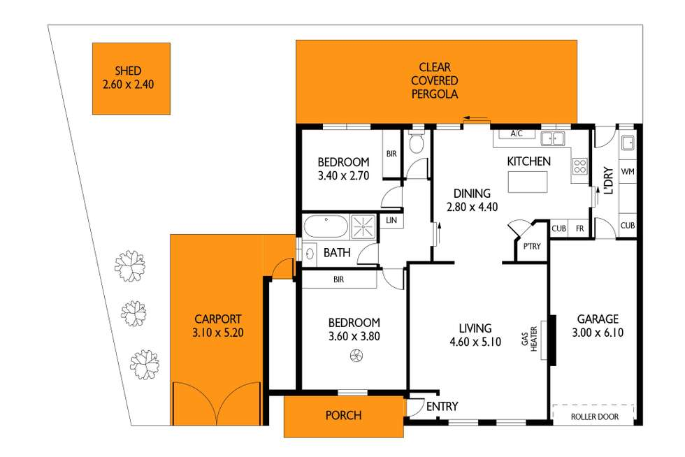 Floorplan of Homely unit listing, 2/2 Lysander Crescent, North Haven SA 5018