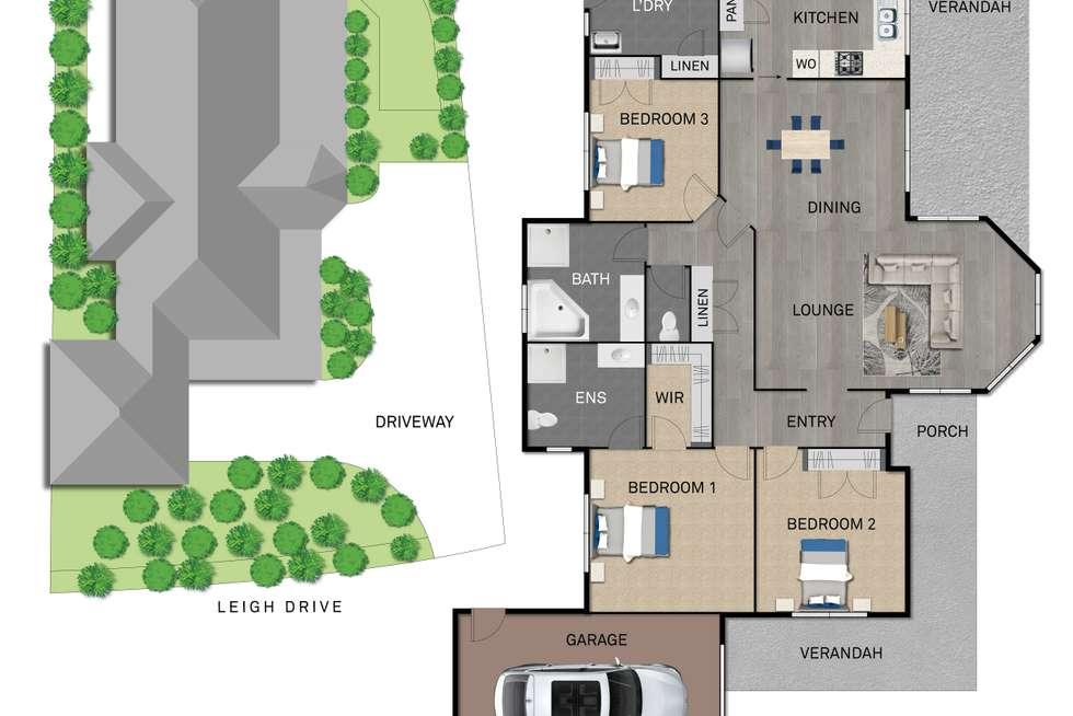 Floorplan of Homely house listing, 29 Leigh Drive, Pakenham VIC 3810