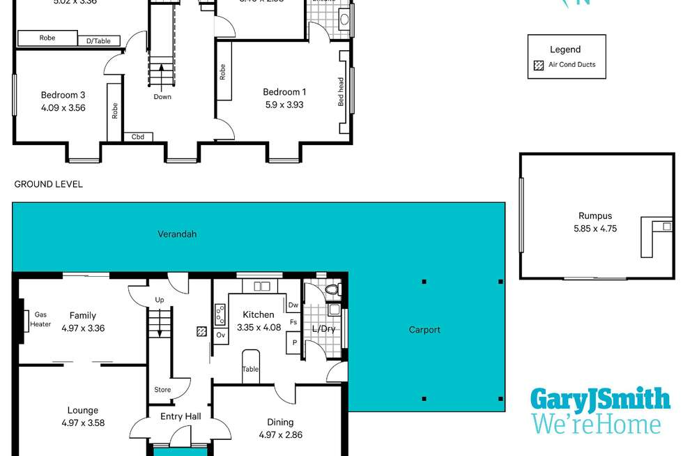 Floorplan of Homely house listing, 36 Ridgefield Avenue, Seaview Downs SA 5049