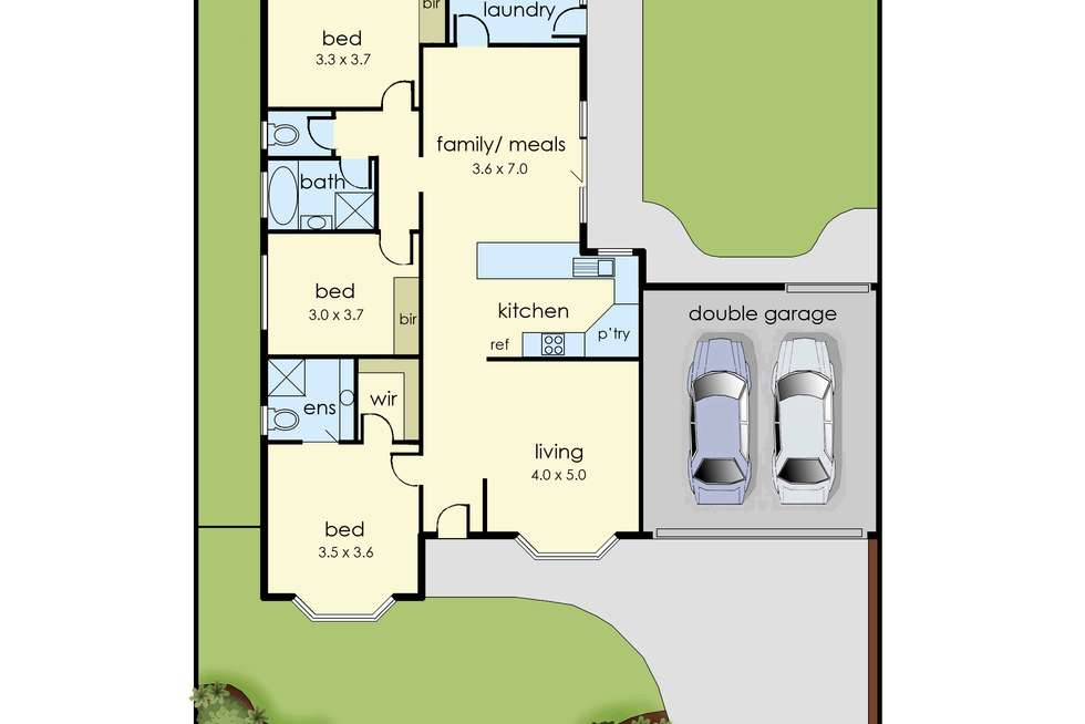 Floorplan of Homely house listing, 29 Browtop Road, Narre Warren VIC 3805