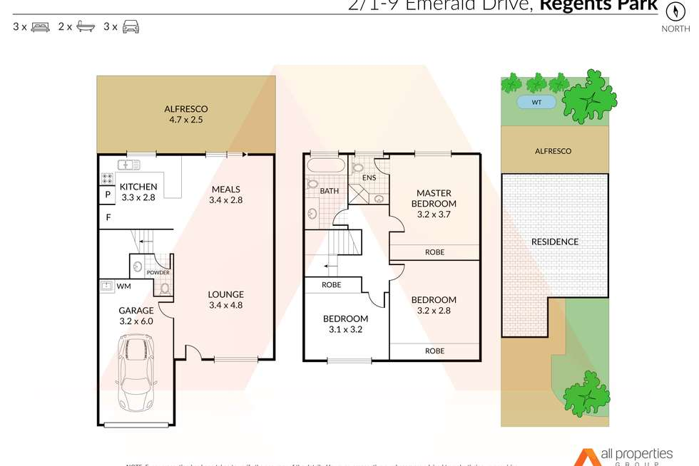 Floorplan of Homely townhouse listing, 2/1-9 Emerald Drive, Regents Park QLD 4118