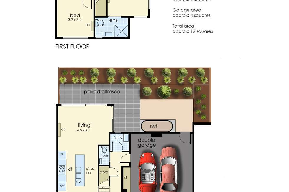 Floorplan of Homely townhouse listing, 7/26-28 Screen Street, Frankston VIC 3199
