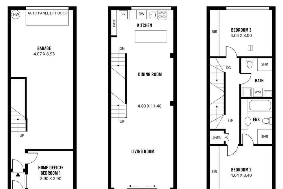 Floorplan of Homely townhouse listing, 123A Ifould Street, Adelaide SA 5000