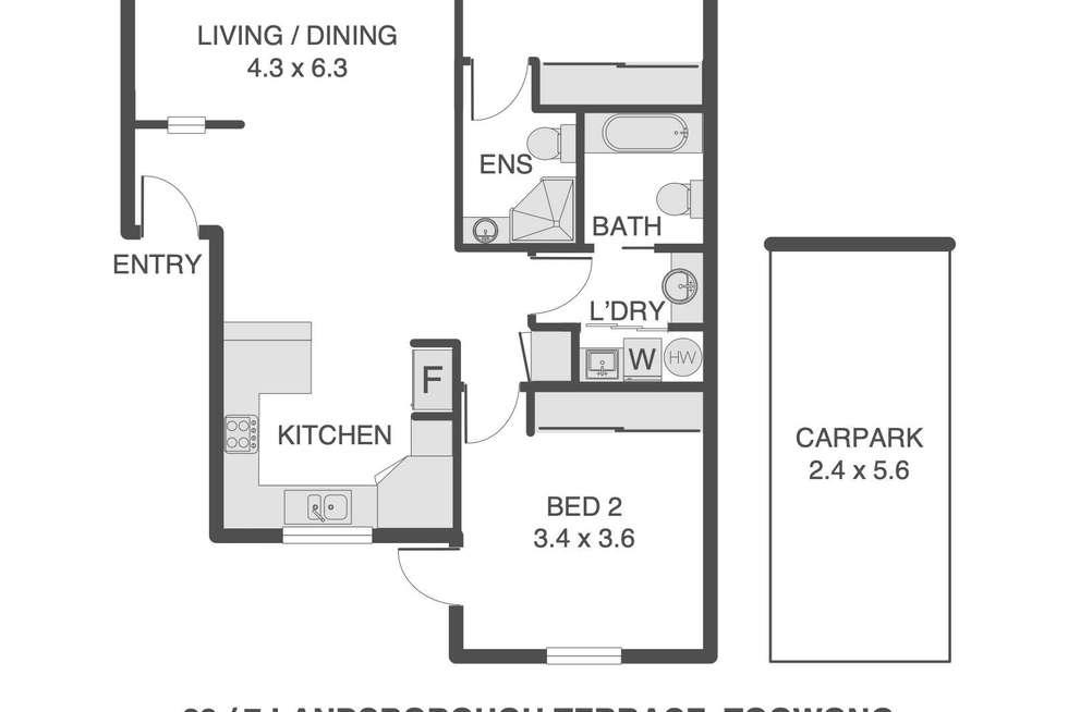 Floorplan of Homely unit listing, 28/7 Landsborough Terrace, Toowong QLD 4066