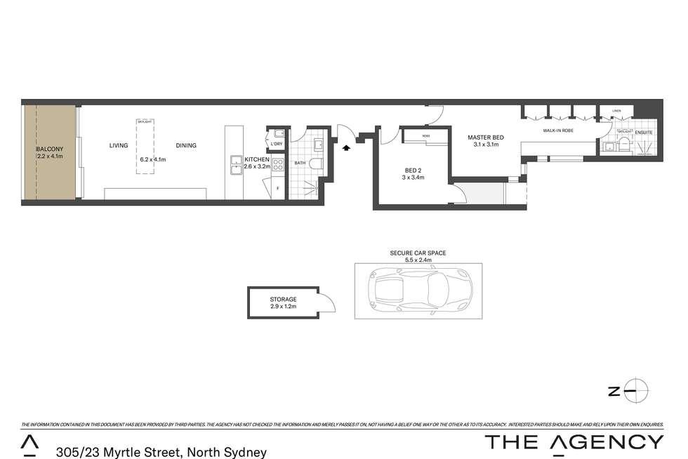 Floorplan of Homely apartment listing, 305/23 Myrtle Street, North Sydney NSW 2060