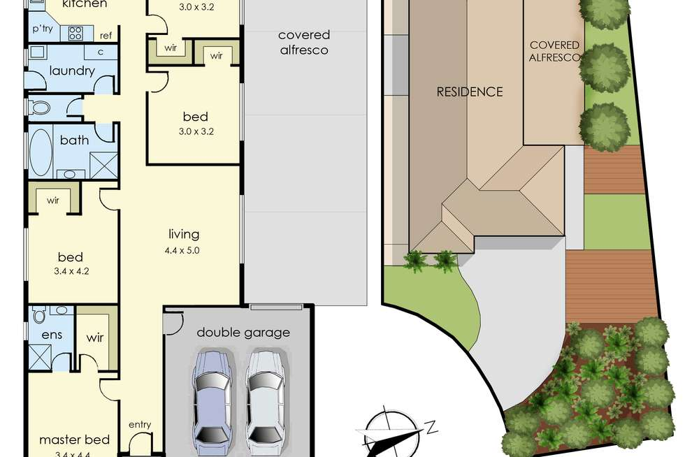 Floorplan of Homely house listing, 4 Cottrell Place, Lynbrook VIC 3975