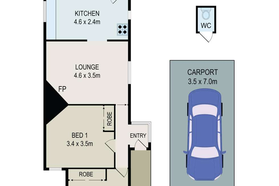 Floorplan of Homely house listing, 107 The Avenue, Granville NSW 2142