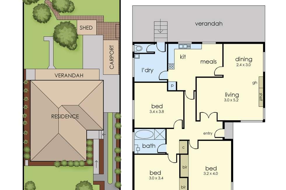 Floorplan of Homely house listing, 8 Putt Grove, Keysborough VIC 3173