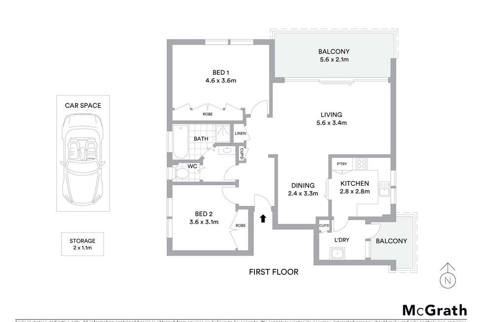Floorplan of Homely apartment listing, 4/52 Landers Road, Lane Cove NSW 2066