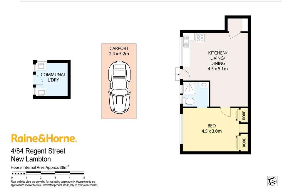Floorplan of Homely unit listing, 4/84 Regent Street, New Lambton NSW 2305