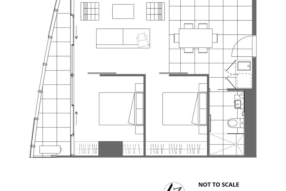 Floorplan of Homely apartment listing, 1805/35 Malcolm Street, South Yarra VIC 3141