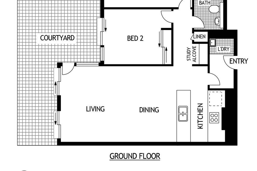 Floorplan of Homely apartment listing, 132/2K Morton Street, Parramatta NSW 2150