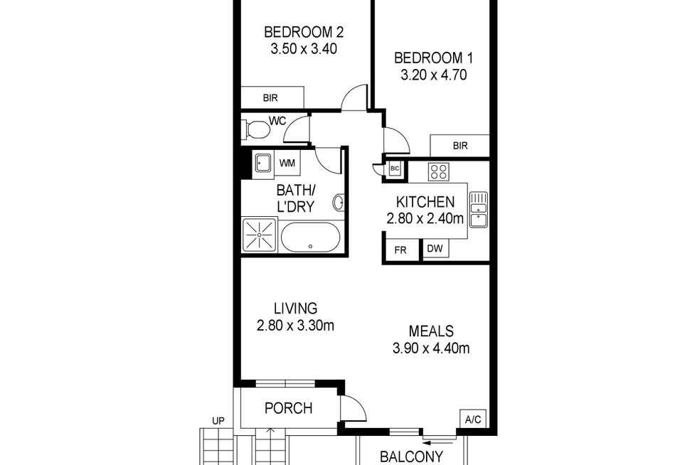 Floorplan of Homely unit listing, 6/23 Winifred Street, Adelaide SA 5000