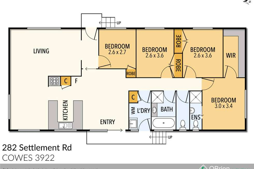 Floorplan of Homely house listing, 282 Settlement Road, Cowes VIC 3922