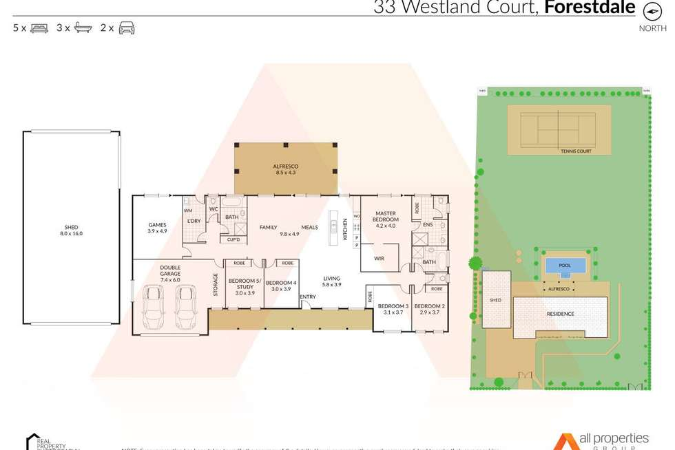 Floorplan of Homely house listing, 33-37 Westland Court, Forestdale QLD 4118