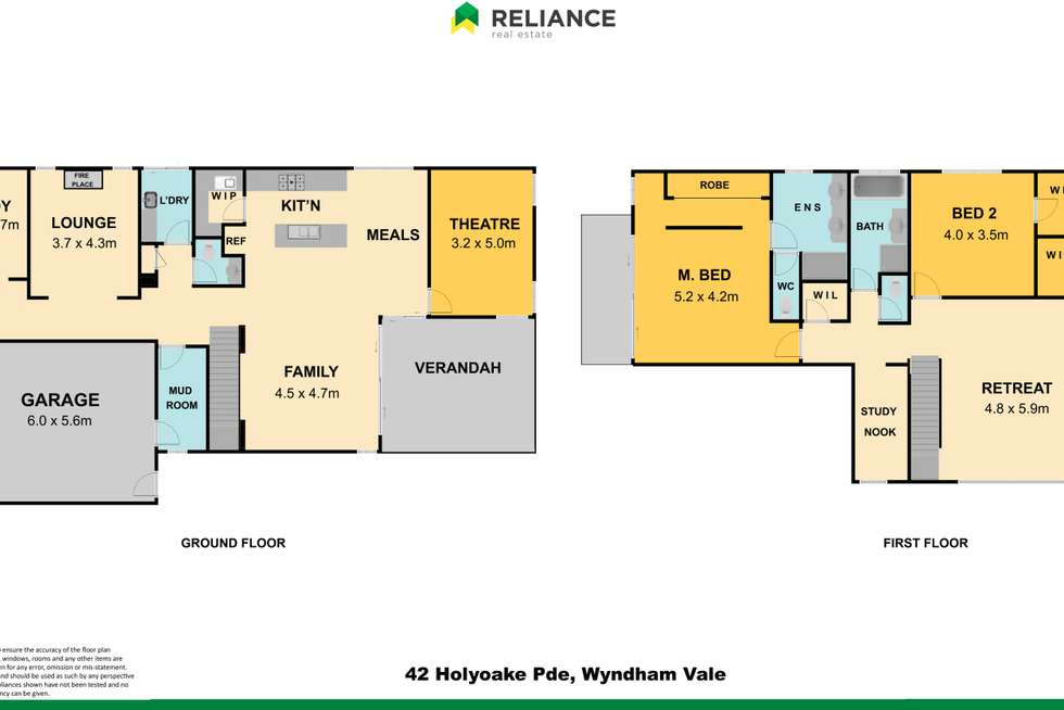 Floorplan of Homely house listing, 42 Holyoake Parade, Manor Lakes VIC 3024