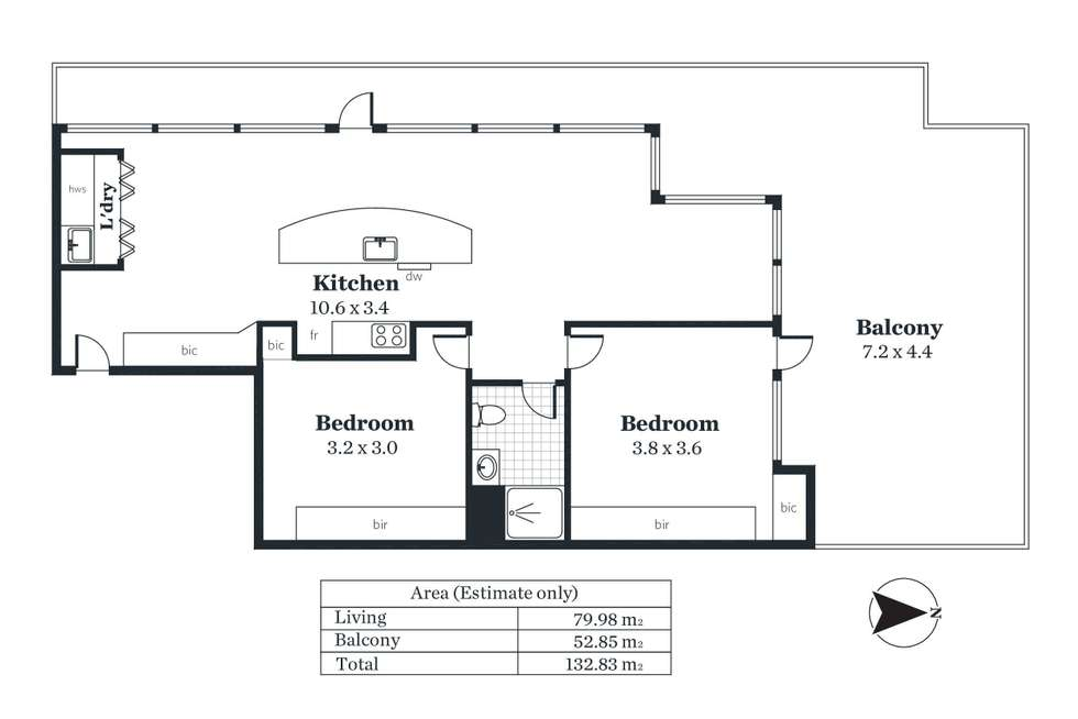 Floorplan of Homely apartment listing, 701/61 Hindmarsh Square, Adelaide SA 5000