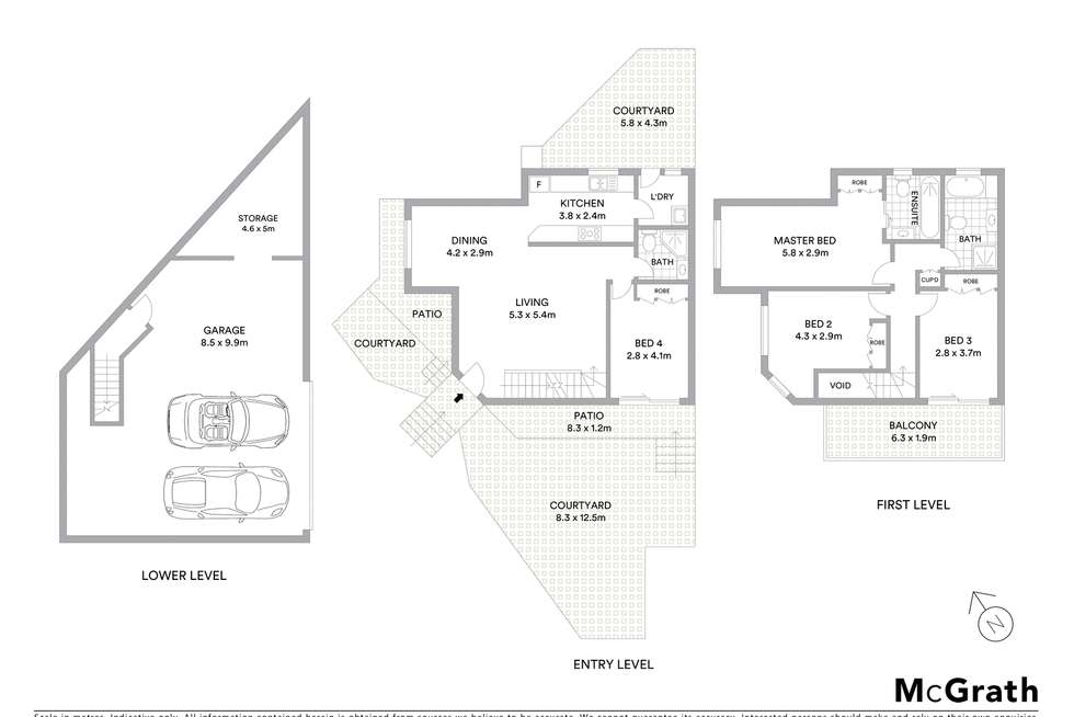 Floorplan of Homely townhouse listing, 2/174 President Avenue, Brighton-Le-Sands NSW 2216