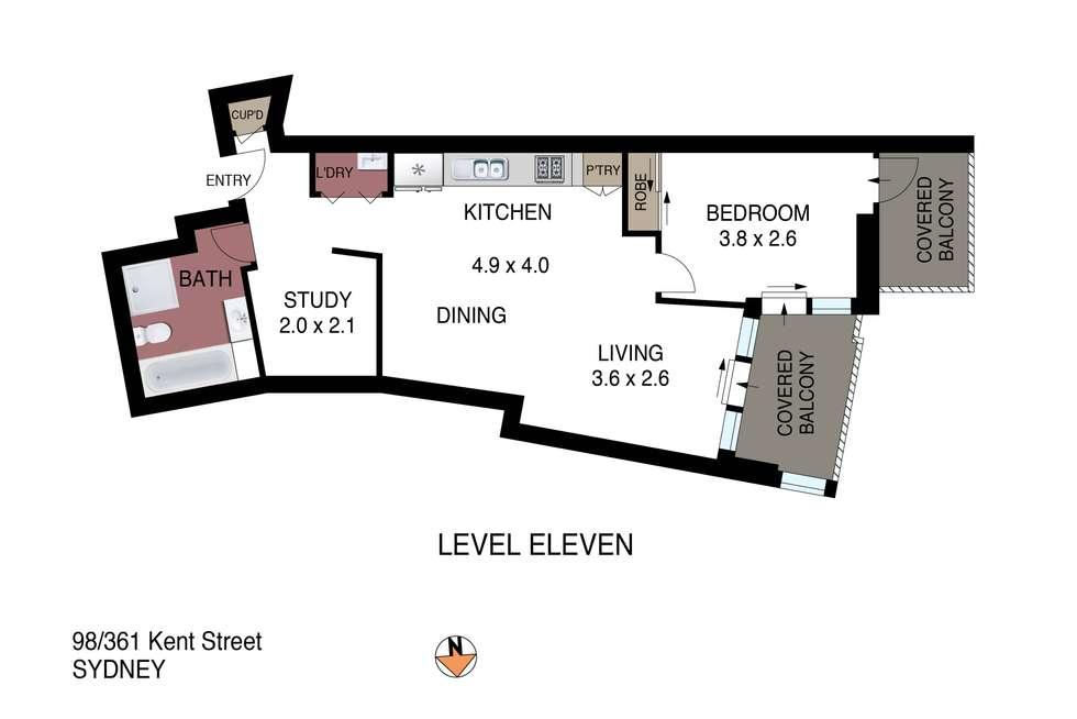 Floorplan of Homely apartment listing, 98/361-363 Kent Street, Sydney NSW 2000