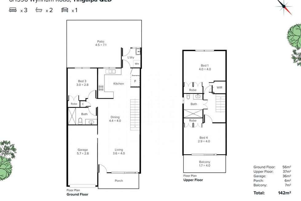 Floorplan of Homely townhouse listing, 6/1596 Wynnum Road, Tingalpa QLD 4173