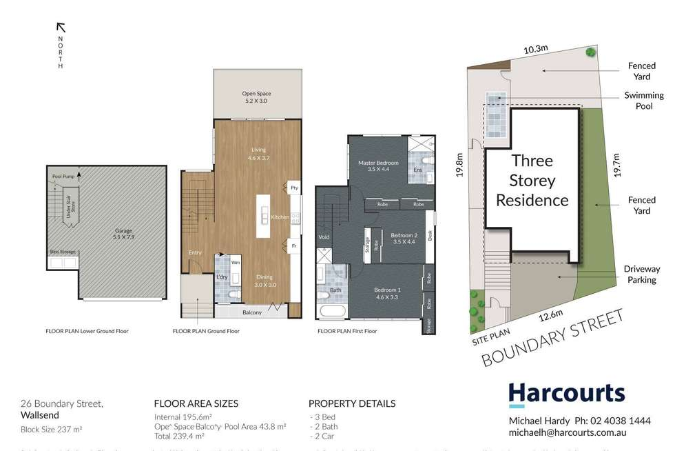 Floorplan of Homely house listing, 26 Boundary Street, Wallsend NSW 2287