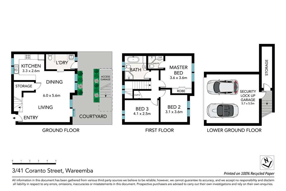 Floorplan of Homely townhouse listing, 3/41 Coranto Street, Wareemba NSW 2046