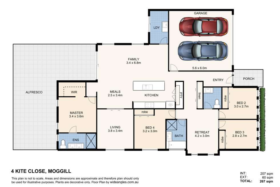 Floorplan of Homely house listing, 4 Kite Close, Moggill QLD 4070