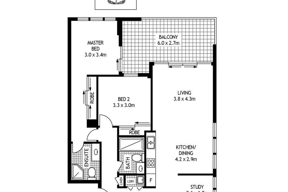 Floorplan of Homely apartment listing, 3209/1A Morton Street, Parramatta NSW 2150