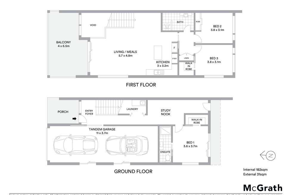 Floorplan of Homely house listing, 1/107 The Avenue, Mount Saint Thomas NSW 2500