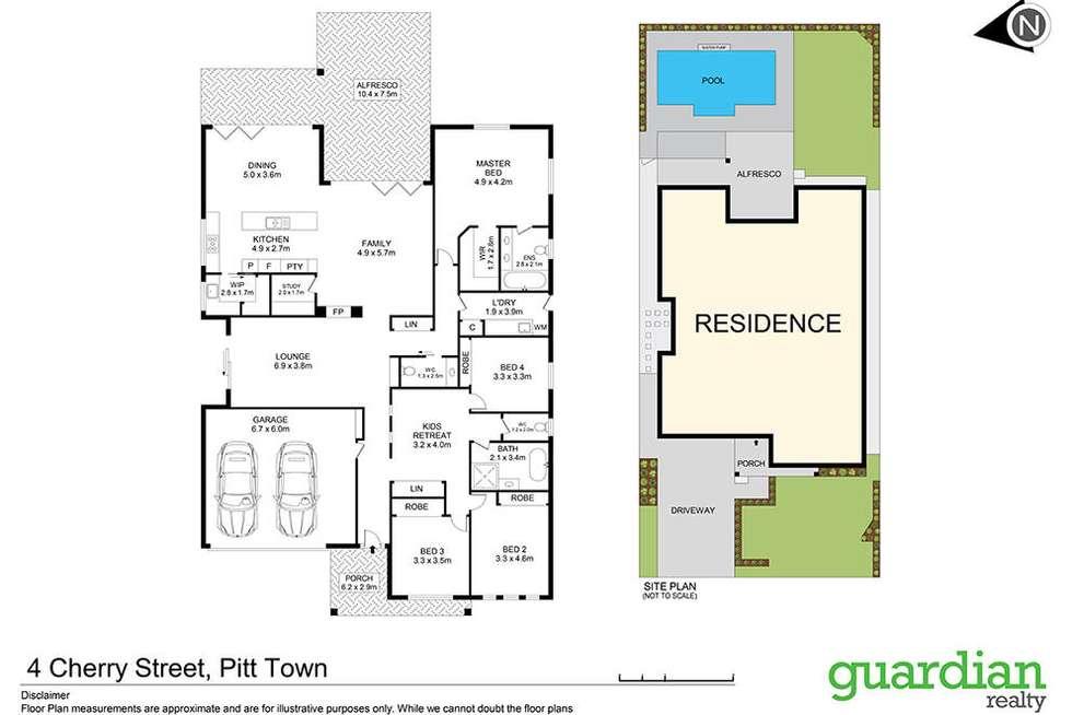 Floorplan of Homely house listing, 4 Cherry Street, Pitt Town NSW 2756