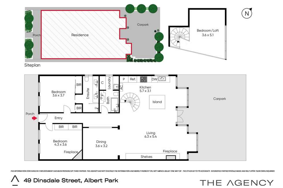 Floorplan of Homely house listing, 49 Dinsdale Street, Albert Park VIC 3206