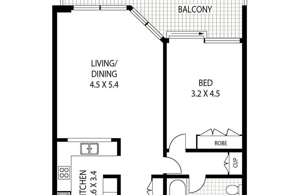 Floorplan of Homely apartment listing, 34/3 Macquarie Street, Sydney NSW 2000