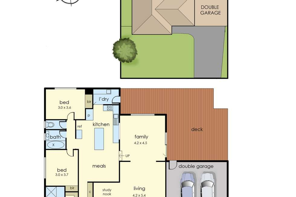 Floorplan of Homely house listing, 4 Simmonds Place, Endeavour Hills VIC 3802