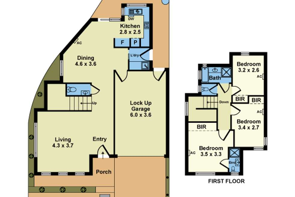 Floorplan of Homely townhouse listing, 3/16 Mounsey Street, Sunshine West VIC 3020