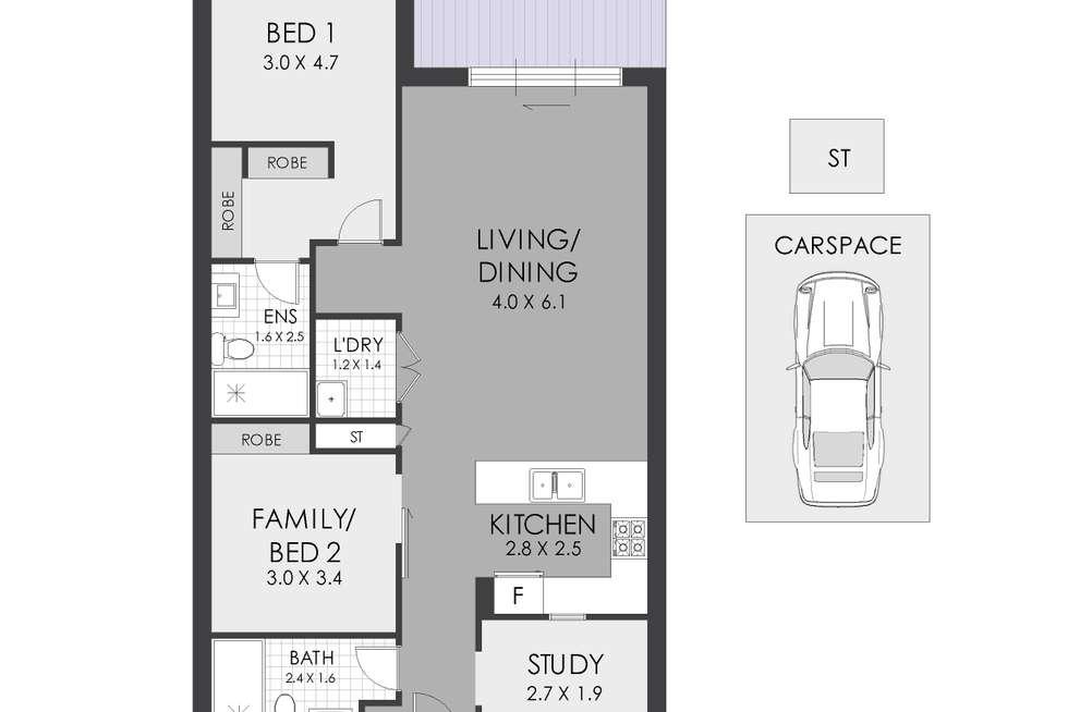 Floorplan of Homely apartment listing, G03/1 Markham Place, Ashfield NSW 2131