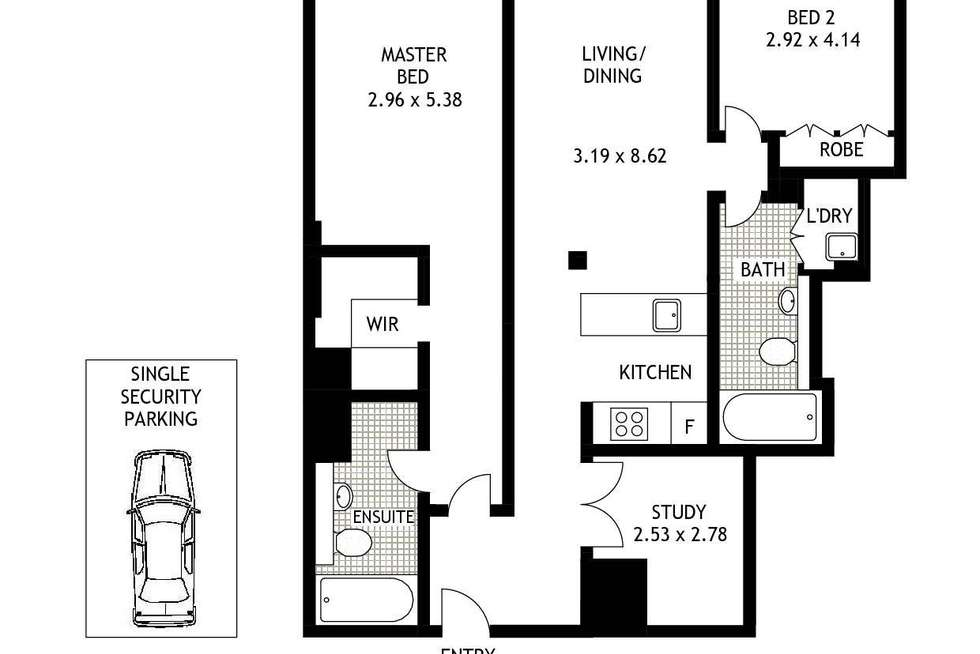 Floorplan of Homely apartment listing, 706/45 Shelley Street, Sydney NSW 2000