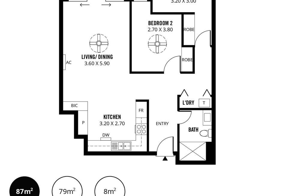 Floorplan of Homely apartment listing, 611/4 Fifth Street, Bowden SA 5007
