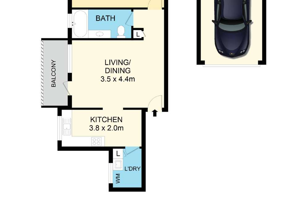 Floorplan of Homely unit listing, 9/44 Luxford Road, Mount Druitt NSW 2770