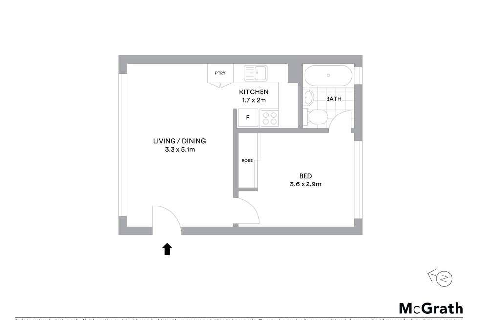 Floorplan of Homely unit listing, 11/78 Spofforth Street, Cremorne NSW 2090